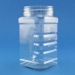 300ml Square Gripper PET Jar 63mm Screw Neck