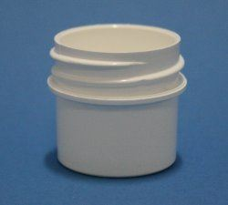 10ml White Polypropylene Regular Walled Simplicity Jar 33mm Screw Neck