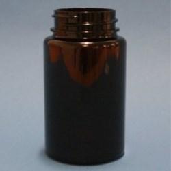 100ml Omnijar Amber PET 38mm Hinge-Guard Neck