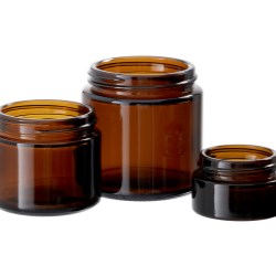 Amber Simplicity Glass Jars