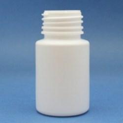40ml Alpha Bottle White HDPE 28mm Neck