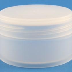 75ml Natural Low Profile Polypropylene Jar with 68mm Twist Off Neck