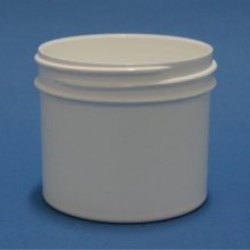 75ml White Polypropylene Regular Walled Simplicity Jar 58mm Screw Neck