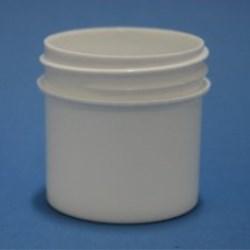 30ml White Polypropylene Regular Walled Simplicity Jar 43mm Screw Neck