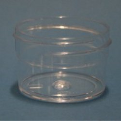 20ml Polystyrene Regular Walled Simplicity Jar 43mm Screw Neck