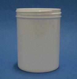 200ml White Polypropylene Regular Walled Simplicity Jar 70mm Screw Neck