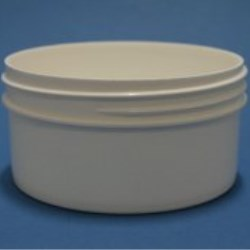 175ml White Polypropylene Regular Walled Simplicity Jar 89mm Screw Neck