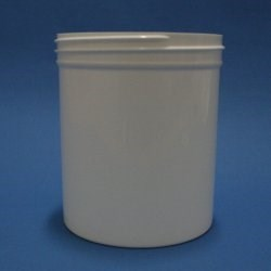 500ml White Polypropylene Regular Walled Simplicity Jar 89mm Screw Neck
