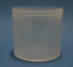 350ml natural polypropylene jar 89mm