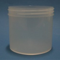 350ml Natural Polypropylene Regular Walled Simplicity Jar 89mm Screw Neck