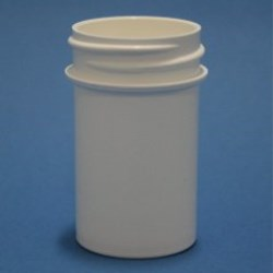 20ml White Polypropylene Regular Walled Simplicity Jar 33mm Screw Neck