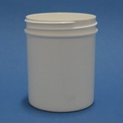 100ml White Polypropylene Regular Walled Simplicity Jar 58mm Screw Neck
