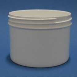 250ml White Polypropylene Regular Walled Simplicity Jar 89mm Screw Neck