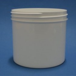 350ml White Polypropylene Regular Walled Simplicity Jar 89mm Screw Neck