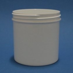 175ml White Polypropylene Regular Walled Simplicity Jar 70mm Screw Neck