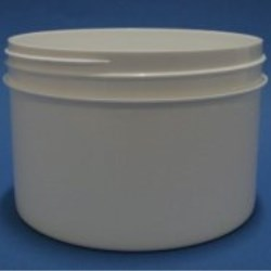 600ml White Polypropylene Regular Walled Simplicity Jar 120mm Screw Neck