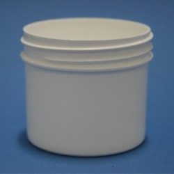125ml White Polypropylene Regular Walled Simplicity Jar 70mm Screw Neck