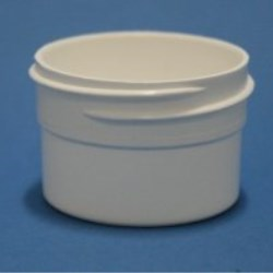 20ml White Polypropylene Regular Walled Simplicity Jar 43mm Screw Neck