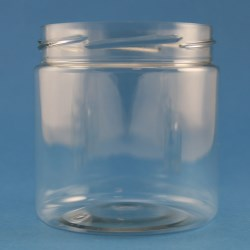 400ml Round PET Jar 82mm Twist Off Neck