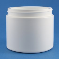 600ml Simplicity Wide Mouth HDPE Jar 100mm Screw Neck