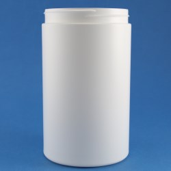 1300ml Simplicity Wide Mouth HDPE Jar 100mm Screw Neck