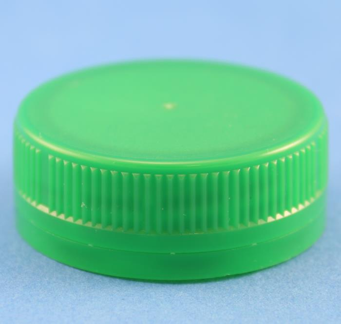 38mm Green Ribbed 3 Start Tamper Evident Cap with Bore Seal