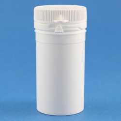 50ml White Simplicity PP Tamper Evident Jar