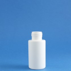 50ml Simplicity Bottle White HDPE 24mm Neck