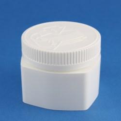 100ml Wide Neck Child-Resistant Square Polypropylene Jar with 63mm Neck