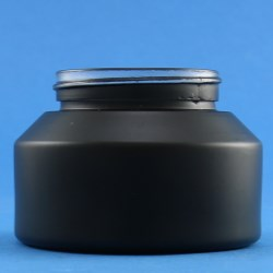 100ml Veral Black Glass Jar