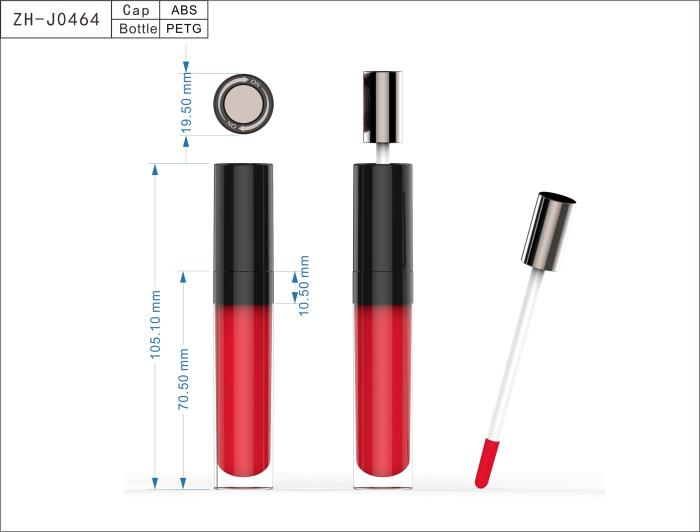 Lip Gloss ZH-J0464 with Swivel-Open Closure