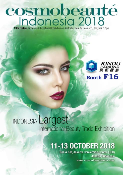 Kindu Packing will attend Cosmobeauté Indonesia 2018 at Hall B, booth F16.