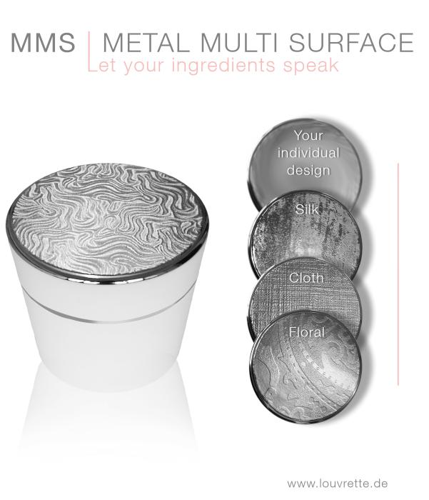Metal Multi Surface and tactile decoration by Louvrette
