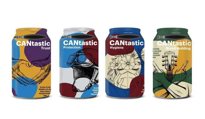 CANtastic combines an aluminium can and shrink sleeve for an innovative and safe drinking experience