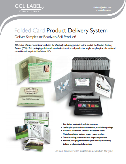 Folded Card Product Delivery System