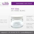 Abpack vous propose des pots 50 ml en verre blanc disponibles sur stock (au carton)