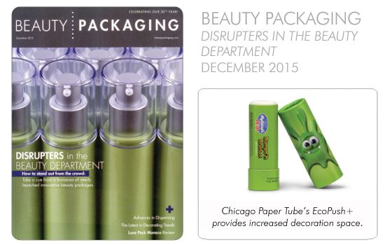 Chicago Paper Tubes EcoPush + provides increased decoration space