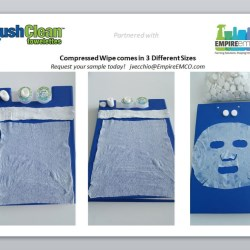 Compressed Wipe comes 3 different sizes for a variety of applications.