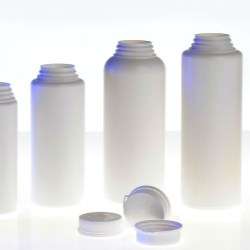 Phaba restyles bottles for talc and powder