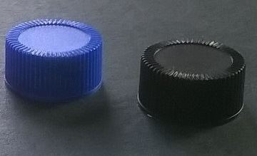 Screw cap PP, ø 24, various colors, with PE line 1,5 mm