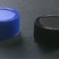 Screw cap PP, ø 24, various colors, with PE line 0,8 mm