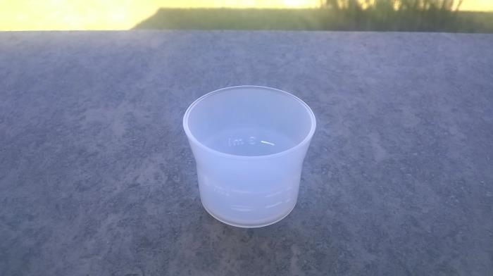 Measuring cup 5 ml, notches 2-3-4-5