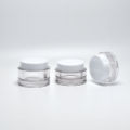 Luxury plastic makeup jars with lid