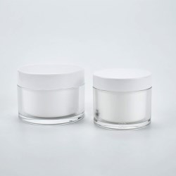 Refillable, recyclable double-wall cosmetic jars