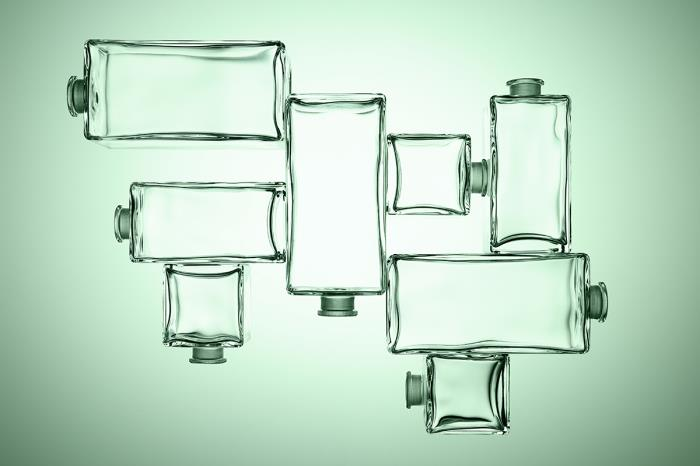 Cubique fragrance bottle