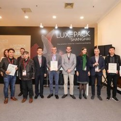 Luxe Pack in green Shanghai 2019 announced 2 winners: Nationalpak and Favini Srl