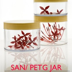 New SAN and PET-G jars for cosmetics and personal care products