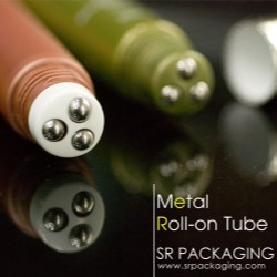 SR Packaging introduces a new roll-on tube with metallic roller ball