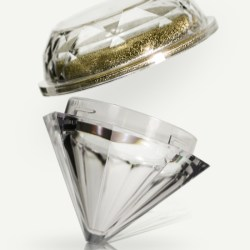 SR Packagings diamond cosmetic jar