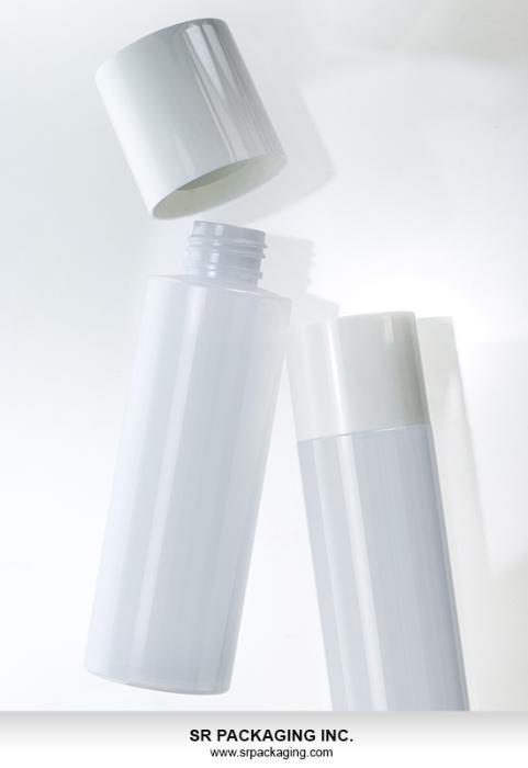 SR Packagings PET cylinder bottle, featuring overcap closure